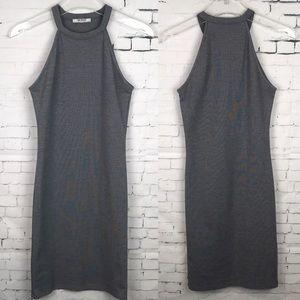 Zara Trafaluc Gray Fitted  Dress small